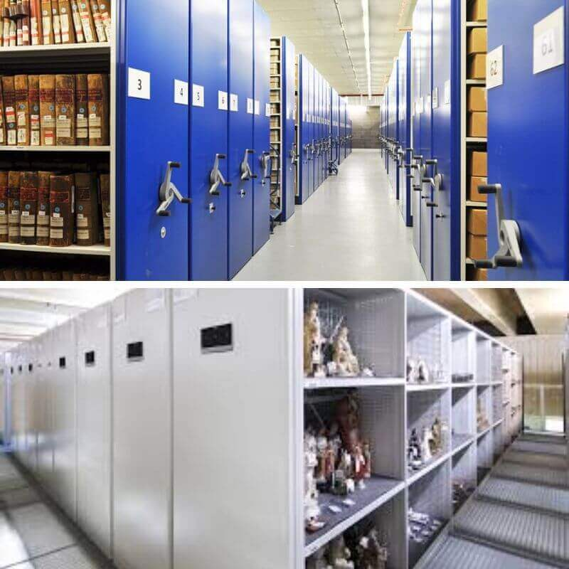 Archive center storage