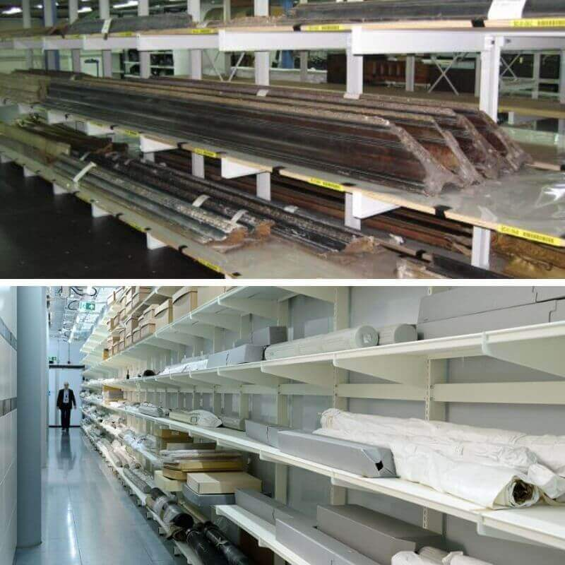 Cantilever shelving racks